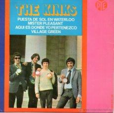 Discos de vinilo: THE KINKS - PUESTA DE SOL EN WATERLOO + 3 - EP. Lote 47947658