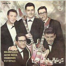 Discos de vinilo: LOS RELAMPAGOS EP PHILIPS 1963 RELAMPAGOS/ ASTER NOVA/ DIAMONDS/ ESTEPAS . Lote 47954164