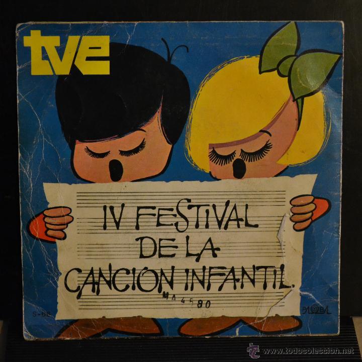 Discos de vinilo: ISABEL. LA RUEDA / FANTASMAS A GOGÓ. IV FESTIVAL DE LA CANCION INFANTIL. 1970. LITERACOMIC. - Foto 2 - 47974714