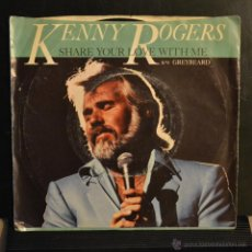 Discos de vinilo: KENNY ROGERS. SHARE YOUR LOVE WITH ME / GREYBEARD. LIBERTY RECORDS 1981. Lote 47975163