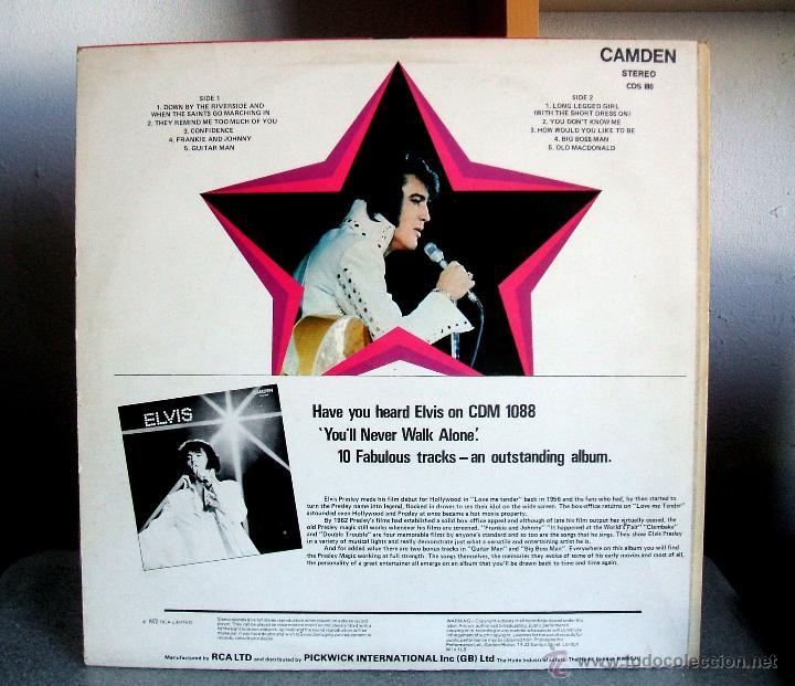 Discos de vinilo: ELVIS PRESLEY : Elvis sings hits from his movies plus two recent hits (VG+/EX), RCA CAMDEN CDS 1110 - Foto 3 - 113781087