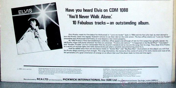Discos de vinilo: ELVIS PRESLEY : Elvis sings hits from his movies plus two recent hits (VG+/EX), RCA CAMDEN CDS 1110 - Foto 6 - 113781087