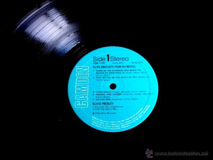 Discos de vinilo: ELVIS PRESLEY : Elvis sings hits from his movies plus two recent hits (VG+/EX), RCA CAMDEN CDS 1110 - Foto 7 - 113781087