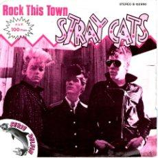 Discos de vinilo: STRAY CATS - ROCK THIS TOWN. Lote 171599633