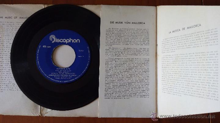 Discos de vinilo: AGRUPACION FESTIVAL LA LONJA MALLORCA, BOLERO MALLORQUI (DISCOPHON 1963) SINGLE EP BERNARDO JULIA - Foto 2 - 47978654
