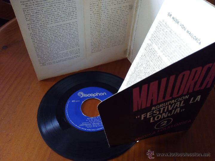 Discos de vinilo: AGRUPACION FESTIVAL LA LONJA MALLORCA, BOLERO MALLORQUI (DISCOPHON 1963) SINGLE EP BERNARDO JULIA - Foto 3 - 47978654