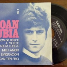 Discos de vinilo: XOAN RUBIA, CANCION DE BERCE A MORTE DE GARCIA LORCA +3 (EDIGSA-XISTRAL 1969) SINGLE EP. Lote 47989146