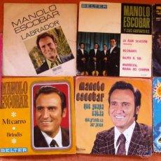 Discos de vinilo: 7 SINGLE VINILO DE MANOLO ESCOBAR MI CARRO VIVA ESPAÑA LOTE DE 5 SINGLES Y 2 EPS. Lote 47897705