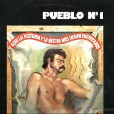 Discos de vinilo: LP PUEBLO Nº 1 ( JUAN D´ARC ) ( MARC GRAU, LA BANDA TRAPERA DEL RIO ). Lote 48000564