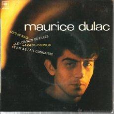 Discos de vinilo: EP MAURICE DULAC : QUE JE SAIS. Lote 48002060