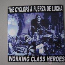 Discos de vinilo: EP - SPLIT - THE CICLOPS & FUERZA DE LUCHA - WORKING CLASS HEROES - 2008. Lote 48004765