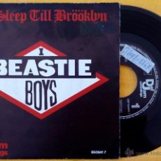 Discos de vinilo: BEASTIE BOYS, NO SLEEP TILL BROOKLYN (CBS 1986) SINGLE PROMOCIONAL DE 1 SOLA CARA LICENSED TO ILL. Lote 48004928