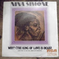 Discos de vinilo: NINA SIMONE 1973 WHY?. RCA VICTOR. SINGLE VINILO.. Lote 48007596