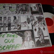 Discos de vinilo: EXOCET TE TIENES QUE ESCAPAR/VAGABUNDO 7 SINGLE 1985 VICTORIA MOVIDA POP EX. Lote 48008389