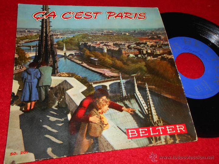 MARIO LANZONE ORQUESTA ÇA C'EST PARIS/MON PARIS/SOUS LES PONTS DE PARIS/PIGALLE EP 1959 BELTER SPAIN (Música - Discos de Vinilo - EPs - Orquestas)