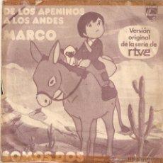 Discos de vinilo: VENDO SINGLE DE LA SERIE DE DIBUJOS ANIMADOS MARCO. (MÁS INFORMACIÓN Y FOTO EN EL INTERIOR).. Lote 48009004