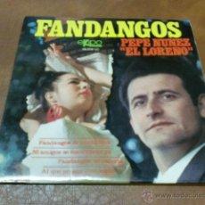 Discos de vinilo: DISCO: PEPE NUÑEZ -EL LORENO- FANDANGOS.- AÑO 1969. Lote 48009215