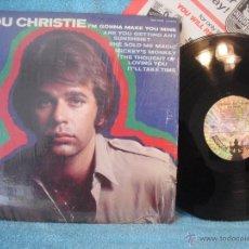 Discos de vinilo: LOU CHRISTIE / I'M GONNA MAKE YOU MINE 1969 BUDDAH RECORDS !! ORG EDIT USA, TODO EXC !!!. Lote 48012013
