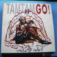 Discos de vinilo: TAM TAM GO VIDA Y COLOR LP 1992 CON ENCARTE PDELUXE. Lote 48022387