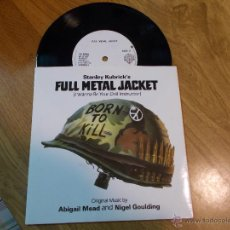 Discos de vinilo: FULL METAL JACKET. STANLEY KUBRICK´S. LA CHAQUETA METALICA. EDICION INGLESA. Lote 48028550