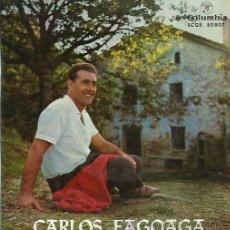 Discos de vinilo: CARLOS FAGOAGA EP SELLO COLUMBIA EN VASCO. Lote 48030780