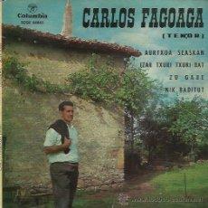 Discos de vinilo: CARLOS FAGOAGA EP SELLO COLUMBIA EN VASCO. Lote 48030935