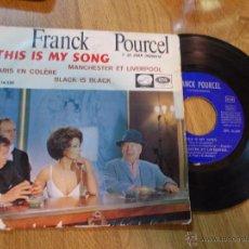 Discos de vinilo: FRANCK POURCEL. THIS IS MY SONG. DE LA PELICULA LA CONDESA DE HONG KONG. MANCHESTER ET LIVERPOOL. . Lote 48033514