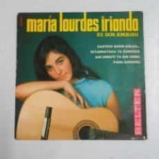 Dischi in vinile: MARIA LOURDES IRIONDO. EZ DOK AMAIRU. GAZTEDI BERRI-ZALEA. KITARRATOXA TA EUSKERA... TDKDS2. Lote 48034595