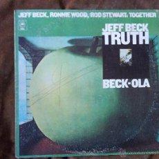 Discos de vinilo: JEFF BECK TRUTH BECK-OLA JEFF BECK, RONNIE WOOD, ROD STEWART: TOGETHER. Lote 48037355
