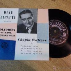 Discos de vinilo: DINU LIPATTI. PIANOFORTE. CHOPIN WALTZES.. Lote 48039300