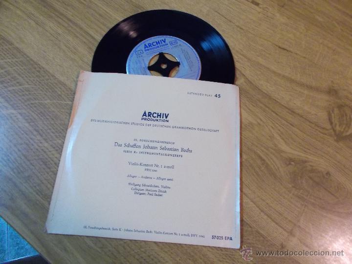 BACH.VIOLIN KONZERT Nº 1 A - MOLL. ALLEGRO-ANDANTE-ALLEGRO ASSAI. (Música - Discos - Singles Vinilo - Clásica, Ópera, Zarzuela y Marchas)