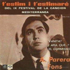 Discos de vinilo: A. PERERA FONS EP SELLO EMI REGAL CANTADO EN CATALAN AÑO 1967. Lote 48087786