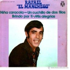 Discos de vinilo: RAFAEL EL MANCHEGO - NIÑA CARACOLA. Lote 221849602