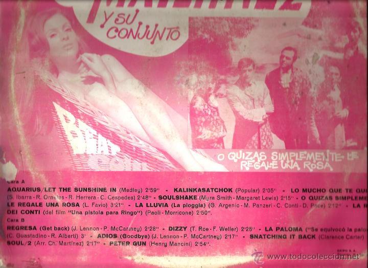 Discos de vinilo: LP CHUS MARTINEZ Y SU CONJUNTO : BEAT SOUL POP SUPER HITS - Foto 2 - 48106581