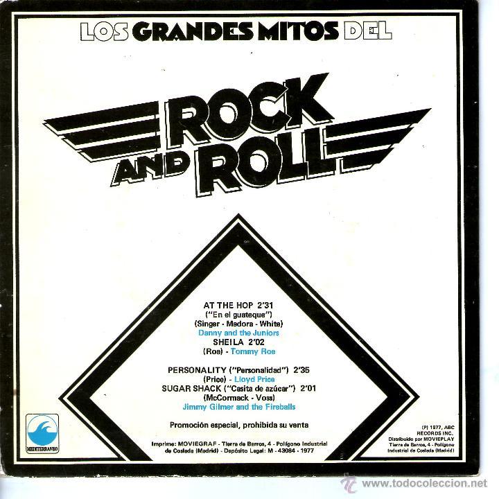 Discos de vinilo: LOS GRANDES MITOS DEL ROCK AND ROLL - Foto 2 - 48109506