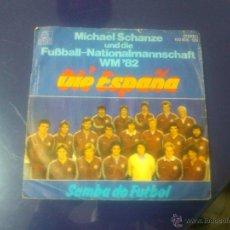 Discos de vinilo: MICHAEL SCHANZE Y LA SELECCION ALEMANA DE FUTBOL (MUNDIAL '82) - OLÉ ESPAÑA +1 (ED. ALEMANA!) RAREZA. Lote 48111979