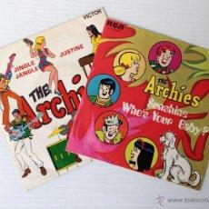 Discos de vinilo: THE ARCHIES. SUNSHINE WHO'S YOUR BABY. JINGLE JANGLE. RCA. 1969 Y 1970. LOTE DE 2 SINGLES.. Lote 48113687