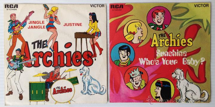 Discos de vinilo: THE ARCHIES. SUNSHINE WHO'S YOUR BABY. JINGLE JANGLE. RCA. 1969 Y 1970. LOTE DE 2 SINGLES. - Foto 2 - 48113687