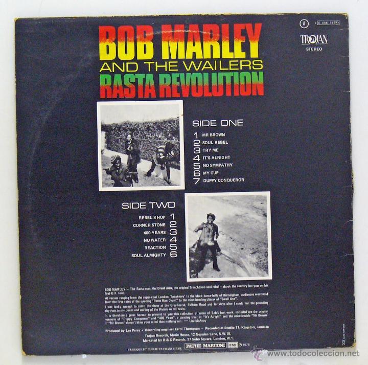 Discos de vinilo: Bob Marley And The Wailers - Rasta Revolution (LP Vinilo. Francia) - Foto 2 - 48116980