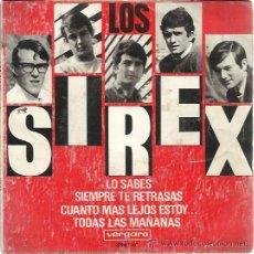 Discos de vinilo: LOS SIREX EP VERGARA 1966 LO SABES/ SIEMPRE TE RETRASAS/ CUANTO MAS LEJOS.. / TODAS LAS GARAGE BEAT . Lote 48120935