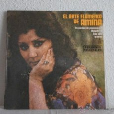 Discos de vinilo: AMINA LP EL ARTE FLAMENCO DE AMINA-1980. Lote 48128850