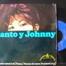 Discos de vinilo: SANTO & JOHNNY*MI GRAN AMOR LE DI + 3*EP 45 HISPAVOX 1966. Lote 48135035