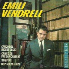 Discos de vinilo: EMILIO VENDRELL EP SELLO BELTER AÑO 1961. Lote 48138390