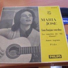 Discos de vinilo: MARIA JOSE (LAS HOJAS VERDES) EP ESPAÑA 1961 (EX+/EX+) (EP12). Lote 236311755