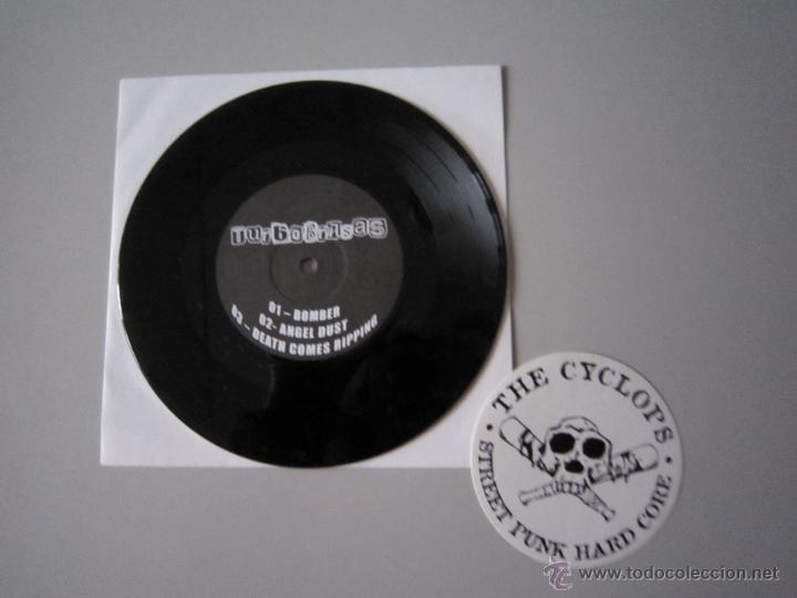 Discos de vinilo: EP - SPLIT PUNK - THE CYCLOPS-KONTRA EVOLUCION Y TURBOBRASAS - PORTADA ESPECIAL ALTERNATIVA - 2007 - Foto 5 - 48151361