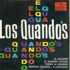 Discos de vinilo: EP LOS QUANDOS -EL QUANDO - EL QUANDO GITANO - TODOS AL QUANDO - CUANDO CUANDO Y QUANDO. Lote 48157794