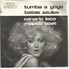 Discos de vinilo: ESPECIAL DISCOTECA EP SPOT 1977 TUMBA A GOGO/ BATAS AZULES/ CANARIO LOCO/ MAJADA BOAT AUDIO VIDEO . Lote 48160117