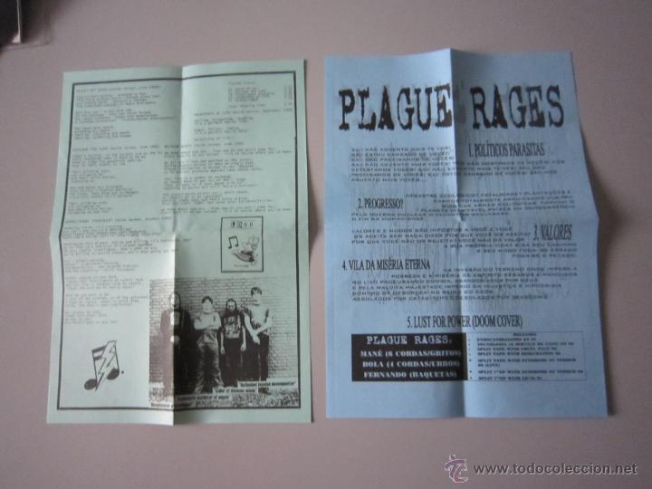 Discos de vinilo: EP - SPLIT HARD CORE - PLAGUE RAGES Y LD 50-OBSERVED -2000 - IMPORTACIÓN - BRASIL - Foto 3 - 48161284