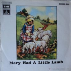 Discos de vinilo: PAUL MCCARTNEY (WINGS) - MARY HAD A LITTLE LAMB - EDICIÓN DE 1972 DE ESPAÑA. Lote 48161365