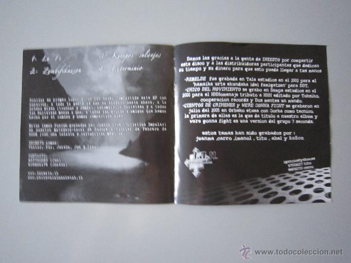 Discos de vinilo: EP - SPLIT - INZESTO Y JAN - 2005 - H.C. PUNK - Foto 3 - 48161627
